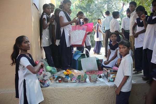 Students with their 'best of Waste' Competition entries.