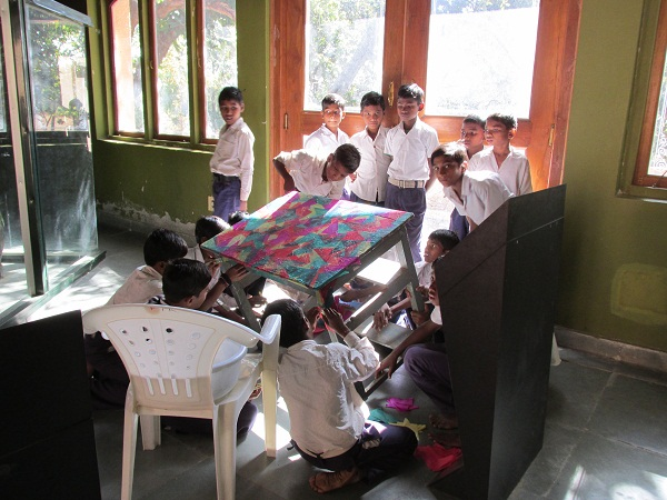 With the table almost finished, it looked like a riot of colours- That will definitely make class a little more fun!