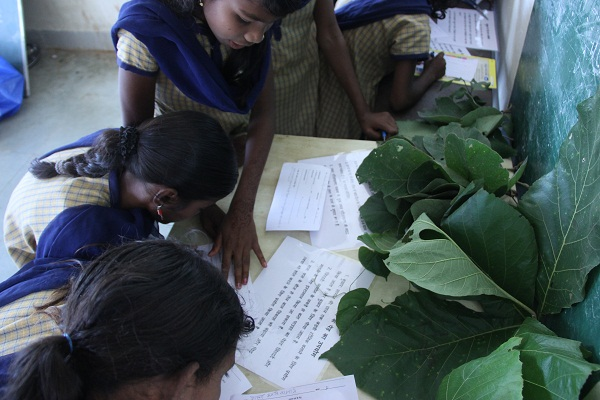 Learning about the medicinal value of trees like Teak, Mahua and Arjun which are commonly found in the forest of Pench.