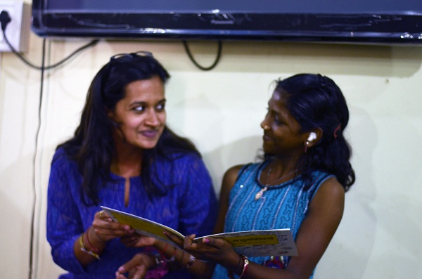 The books in our library incite many a reaction in our students. Here is one very candidly captured.