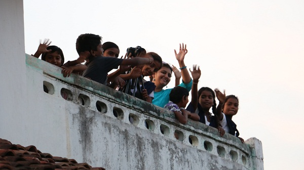 Atop the terrace of one of the houses to get a glimpse of life in the village.