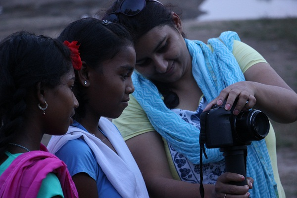Capturing the setting sun in Pench.